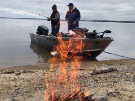 Pakwash Lake Camp Outfitter Fire