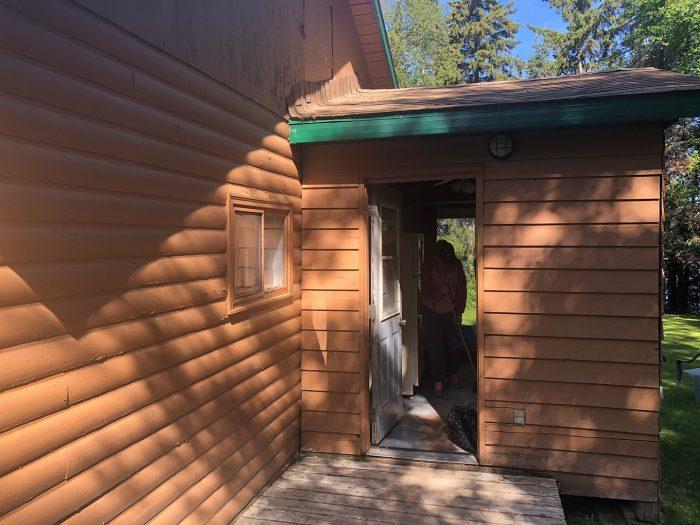Cabin 6 Side Entrance Close Up