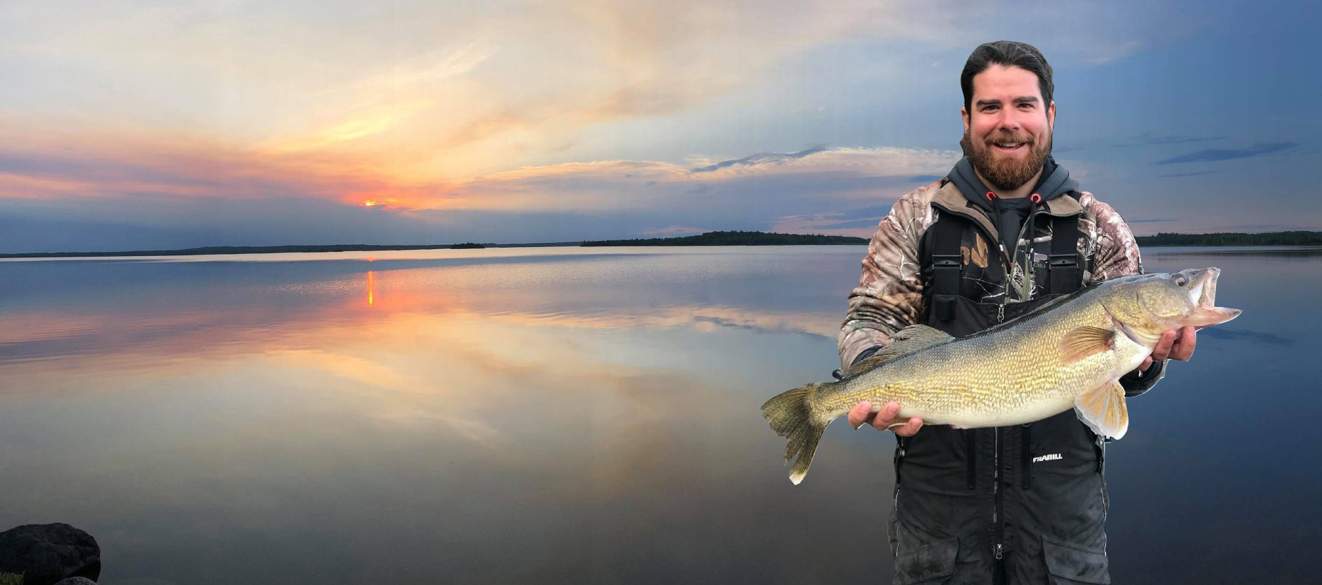 Fisherman Guest With Trophy Walleye Catch 1 Aspect Ratio 1920 850