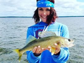 Guest With Beautiful Walleye Catch