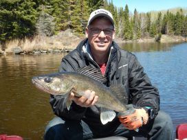 Guest With Big Walleye Catch